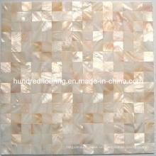 Natürliche Farbe Perlmutt Muschel Mosaik Fliese (HMP68)
