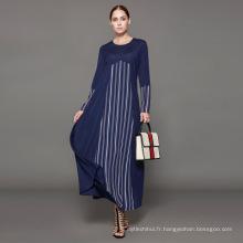Propriétaire Designer marque oem étiquette nouvelle arrivée musulman cardigan femmes islamique vêtements personnalisé longue robe turque abaya