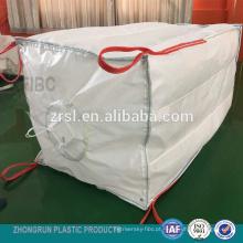FIBC Q bag - Amplamente utilizado pp baffled big bag com enchimento bico U panel bag