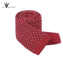 Le plus récent fait sur commande en soie imprimé numérique tricoté cravate hommes