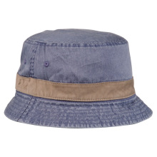 Cotton Twill Washed Reversible Bucket Hat with Broad Brim
