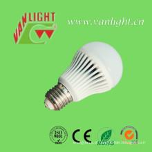 Bulbo de lâmpada LED 5W E27/B22 tampa plástica alumínio