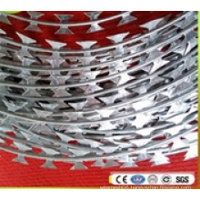 Hot Dipped Galvanized Concertina Razor Barbed Tape Wire (BTO-22)