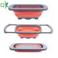 Silicone Basket Strainer Colander Vegetable Drainer for Food