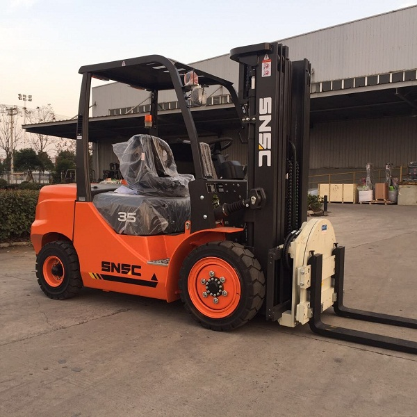forklift with rotator
