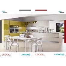 Armário de cozinha acessível e econômico com porta de pvc de alto brilho
