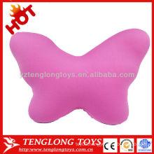 2015 new design popular women decorative butterfly shape soft microbead pillow