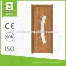 Porta de vidro do pvc da porta interior