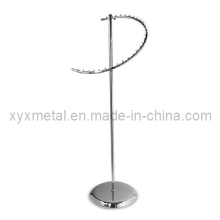 Mais novo estilo 29 Ball Chrome Clothes Spiral Display Rack