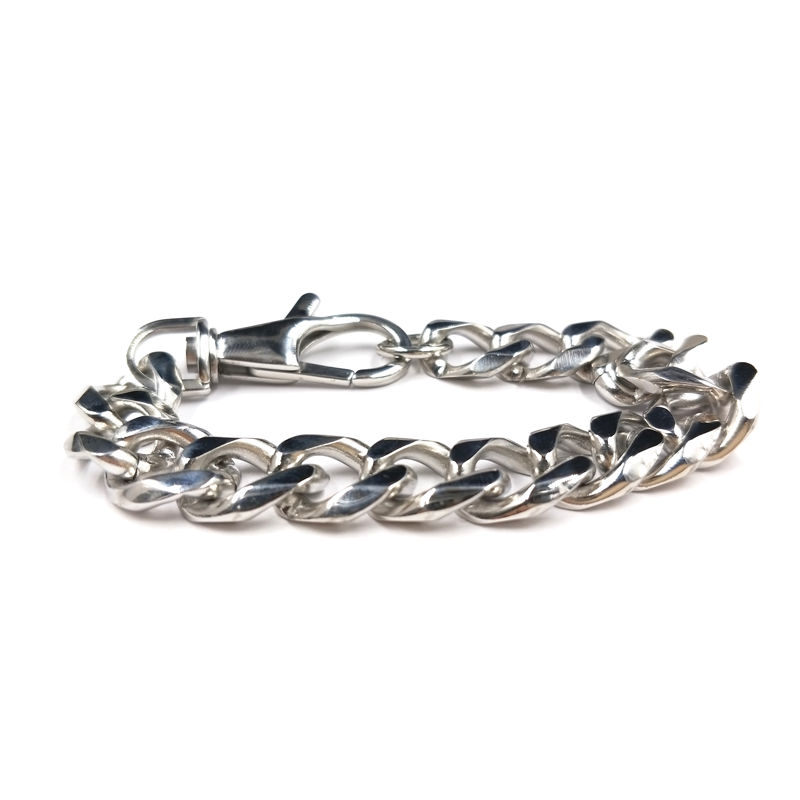 Stainless steel Lobster buckle silver chain bracelets