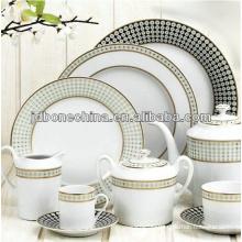 round shape Pakistan Indian style bone china dinner set