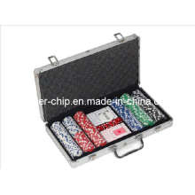 300PCS Poker Chip Set in runder Ecke Aluminium Fall (SY-S16)