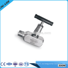 Válvula de aguja de alta presión de alto rendimiento