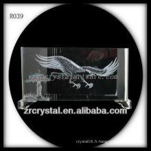 Intaglio fait à la main Eagle Crystal