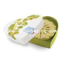 Custom Luxury Heart Shape Paper Tea Box