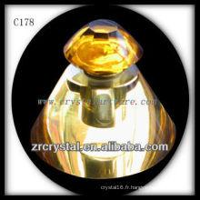 Belle bouteille de parfum en cristal C178
