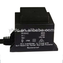 Waterproof electronic transformer outdoor