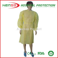 Vestido de aislamiento amarillo desechable HENSO