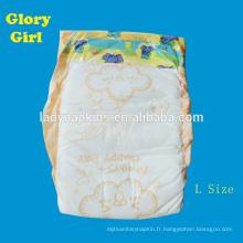 Couches de bébé super doux utilisé sleepy jetable couche-culotte bébé aisselles couches absorbantes usine