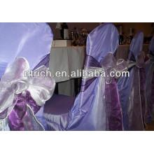 Crystal wedding and banquet organza chair sash