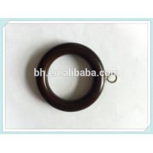 Atacado Anéis de cortina de madeira, anel de cortina O, Dark Bronze Wooden Ring