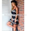Vestido largo gasa nuevo estilo mujeres corbata gasa vestido verano para venta por mayor