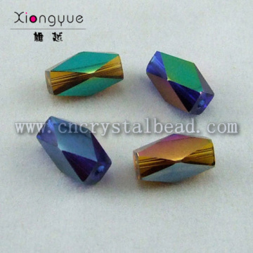 faceted beads coated with gold color bead