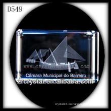 K9 3D Laser Subsurface Bild in Crystal Rechteck