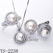 La perla caliente de la manera de la venta fijó la plata 925 (YS-2238)