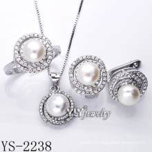 Hot Sale Fashion Jewelry Pearl Set 925 Silver (YS-2238)