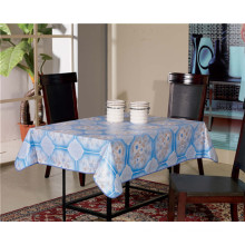 Cheap White Opaque PVC Printed Tablecloth