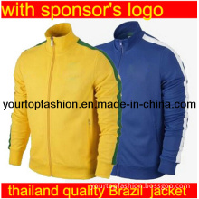 Brasil Jacket 2013 Men's Brazil Soccer Jackets Ports Training Sportswear Man Football Sports Jacket Brazil Soccer Jerseys Coat