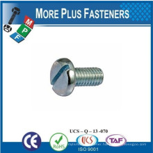 Made in Taiwan Slotted Pan Head Machine Screw Brass Stainless Steel Carbon Steel Zinc Plated