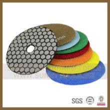 Almohadillas de pulido de diamante de mármol mojado de alta calidad de 100 mm Remolino