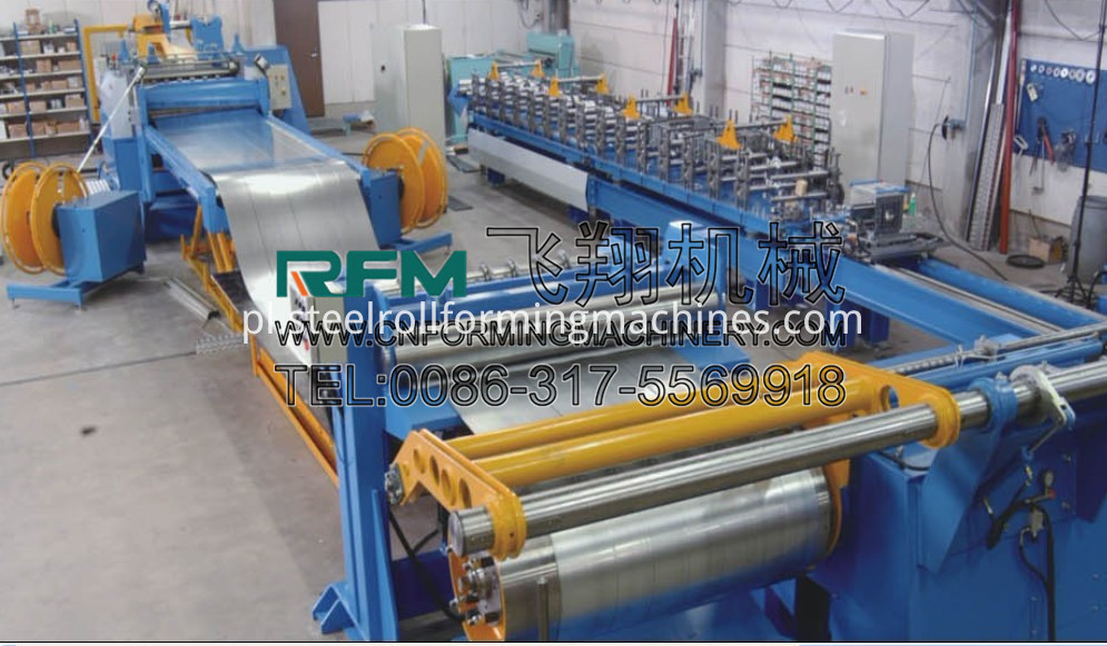 Automatic slitting line machine