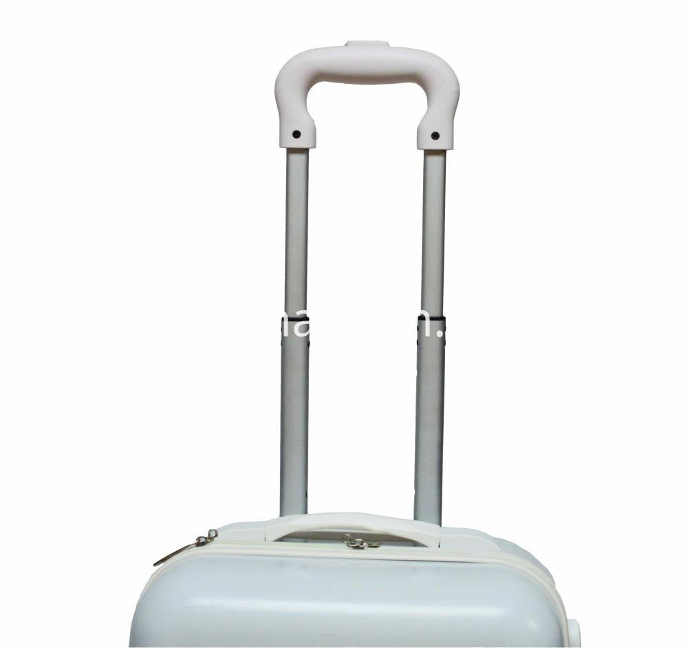 White Color Luggage with Mached Accessories