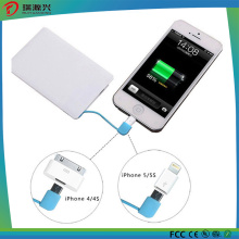 Mini 2600mAh Slim Credit Card Power Bank Charger for Promotion