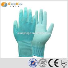 Protetores de dedo de alta qualidade de Sunnyhope com luvas de jardim revestidas de PU
