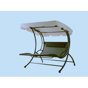 Steel swing chair with canopy