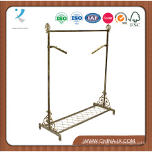 Bronze Vintage Style Rail Garment Stand with Shelf