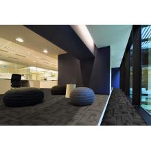 Azulejos de alfombra de oficina de nylon con respaldo de PVC