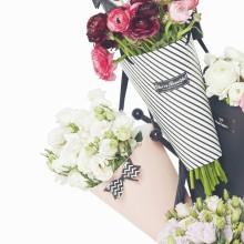 Caixa de flor de embalagem de papel de embalagem de flor elegante