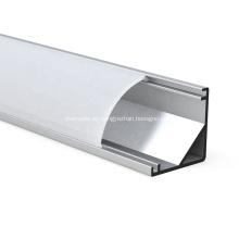 Perfil de aluminio LED con PC y difusor de PMMA