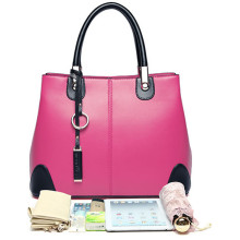 Ladies PU Handbag Crossbody Bag Hot-Selling Bags with Rose Red Color