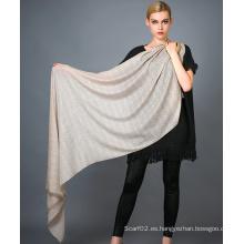 Pañuelo de cachemira de Alashan Worsted, textura suave / lujosa