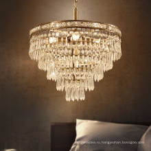 Лофт свет американский ретро освещение лампы кристалла железа старинные подвесной светильник
