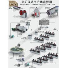 Ligne de production d'équipement de traitement de la flottation de minerai de molybdène