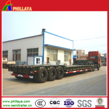 Semi-remorque adaptée aux besoins du client par lit bas pour le transport de 100-150 tonnes