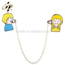 Épingles à collier en métal promotionnelles sur mesure avec collier