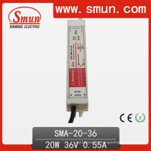 Fonte de alimentação impermeável IP67 do motorista atual constante do diodo emissor de luz da corrente 20W 18-36VDC